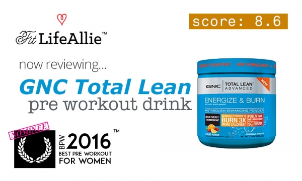 GNC Total Lean Pre Workout Review: A Safe Bet all Around