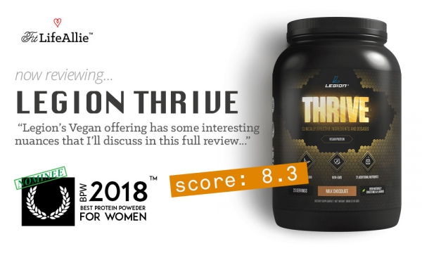 Legion Thrive Vegan Protein Review: What's w/ the Creatine?